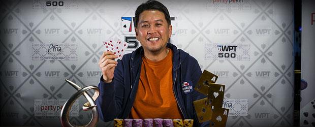 Partypoker WPT500 has Yu as the Winner